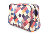 Pass it On - Unique wash bag with checkered patchwork design