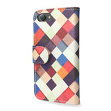 iPhone 8 Wallet Case - Multricolored Checkered Cover, Cruelty free & Vegan, Pass it On
