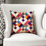 Pass it On II - Stylish Vegan Checkered Patchwork Cushion
