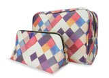 Pass it on II - Unique womens gift set with checkered patchwork design