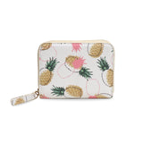 Pineapples & Pine Cones - Luxury White Mini Purse Wallet from HETTY+SAM
