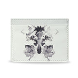 Rorschach White Slim Card Holder - Crafted using 100% vegan leather material