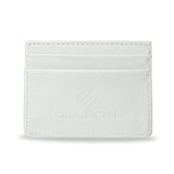 Rorschach - White artist designed slim card holder. Crafted using 100% vegan leather material [back]