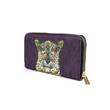 Leopard Queen - Colourful Animal Print Vegan Leather Purse for Women