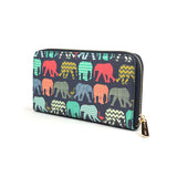 Elephants & Flamingo's - Womens Designer Vegan Purse in Navy