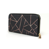 Velvet Black & Rose Gold - Stylish Vegan Leather Purse for Women