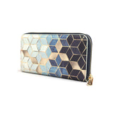 Gradient Cubes - Luxury Vegan Blue & White Purse for Women from HETTY+SAM