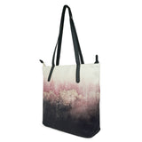 Pink Sky - Womens Luxury Pink & Black Vegan Leather Tote Bag