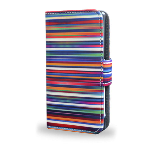 Blurry Lines - Sony Xperia Z5 Compact Leather Wallet Case, Z5 Compact Cover, Vegan Leather