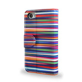 Blurry Lines - Colourful Sony Xperia Z5 Leather Wallet Case, Z5 Cover, Vegan Leather