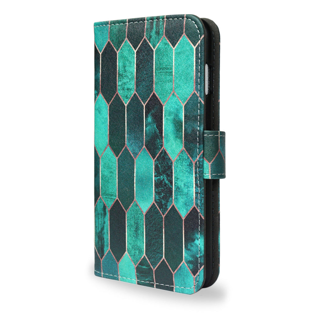 SALE 'Stained Glass' iPhone 7 Plus Wallet Case, , Create&Case - createandcase
