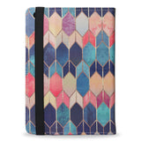 Colourful iPad Mini 2 vegan leather folio case cover, stained glass, createandcase