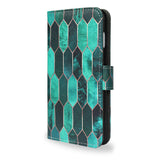 Stained Glass - iPhone 8 Slim & Protective Green Wallet Case Cover