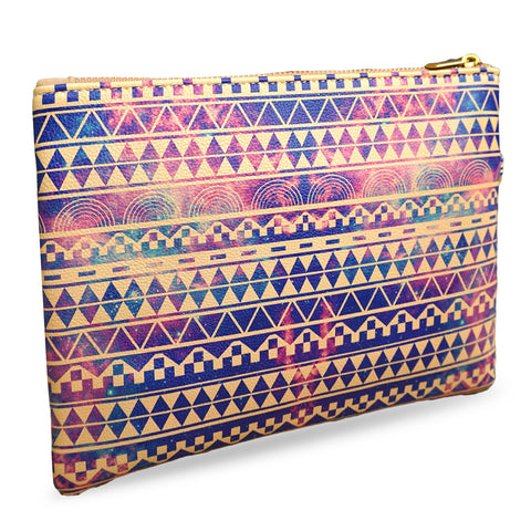 Substitution - Purple & Lilic Aztec Print Wristlet Clutch Bag