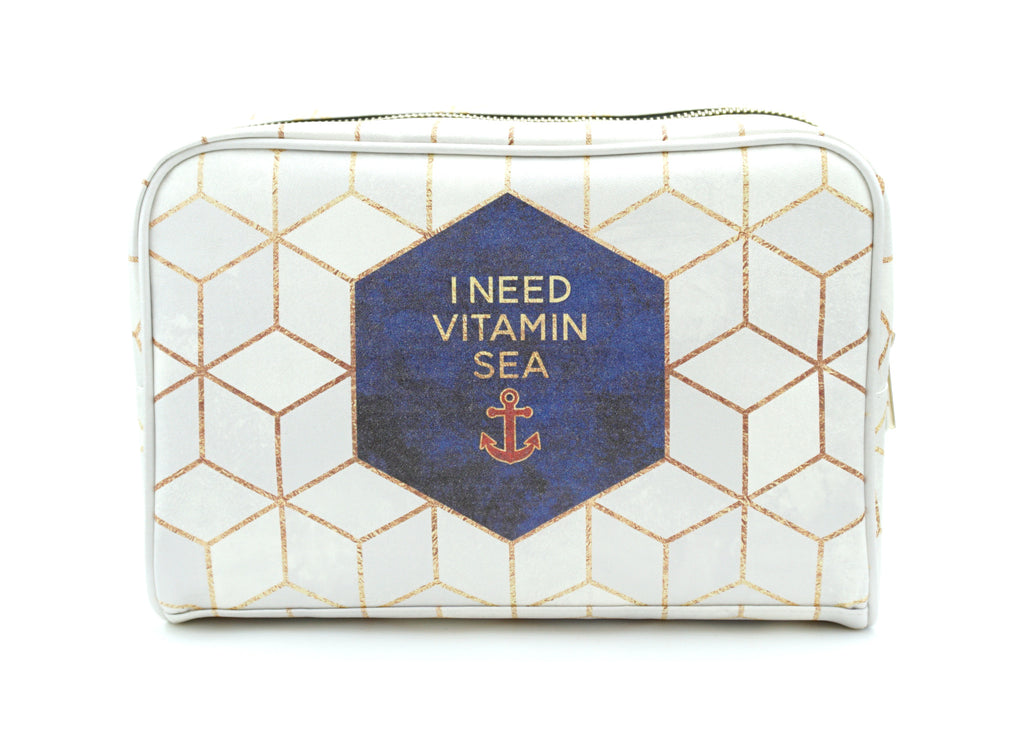 'Vitamin Sea' Artist Designed Vegan Leather Wash Bag, Wash Bag, Create&Case - createandcase