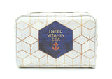 Vitamin Sea - Stylish, nautical vegan leather travel wash bag by Elisabeth Fredriksson