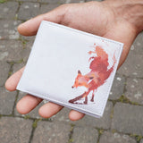 Vulpes - Cruelty Free Mens Vegan Wallet with Red Fox Artwork