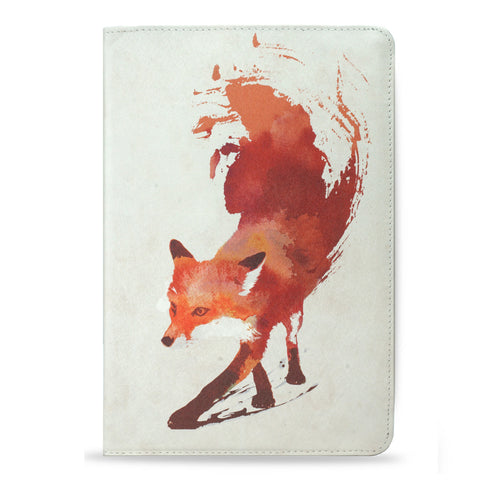 Vulpes - Red abstract fox vegan leather iPad Pro 9.7 case cover