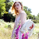 Vulpes - Small Vegan Leather Backpack with Fox Artwork from HETTY+SAM