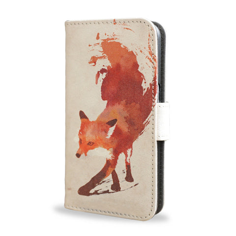 Google Pixel Leather Wallet Case - Vulpes - Red abstract fox, createandcase