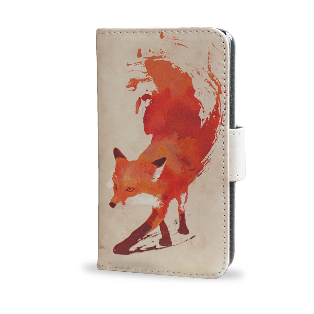 Vulpes - Red abstract fox, Z3 Compact wallet case, vegan leather, createandcase
