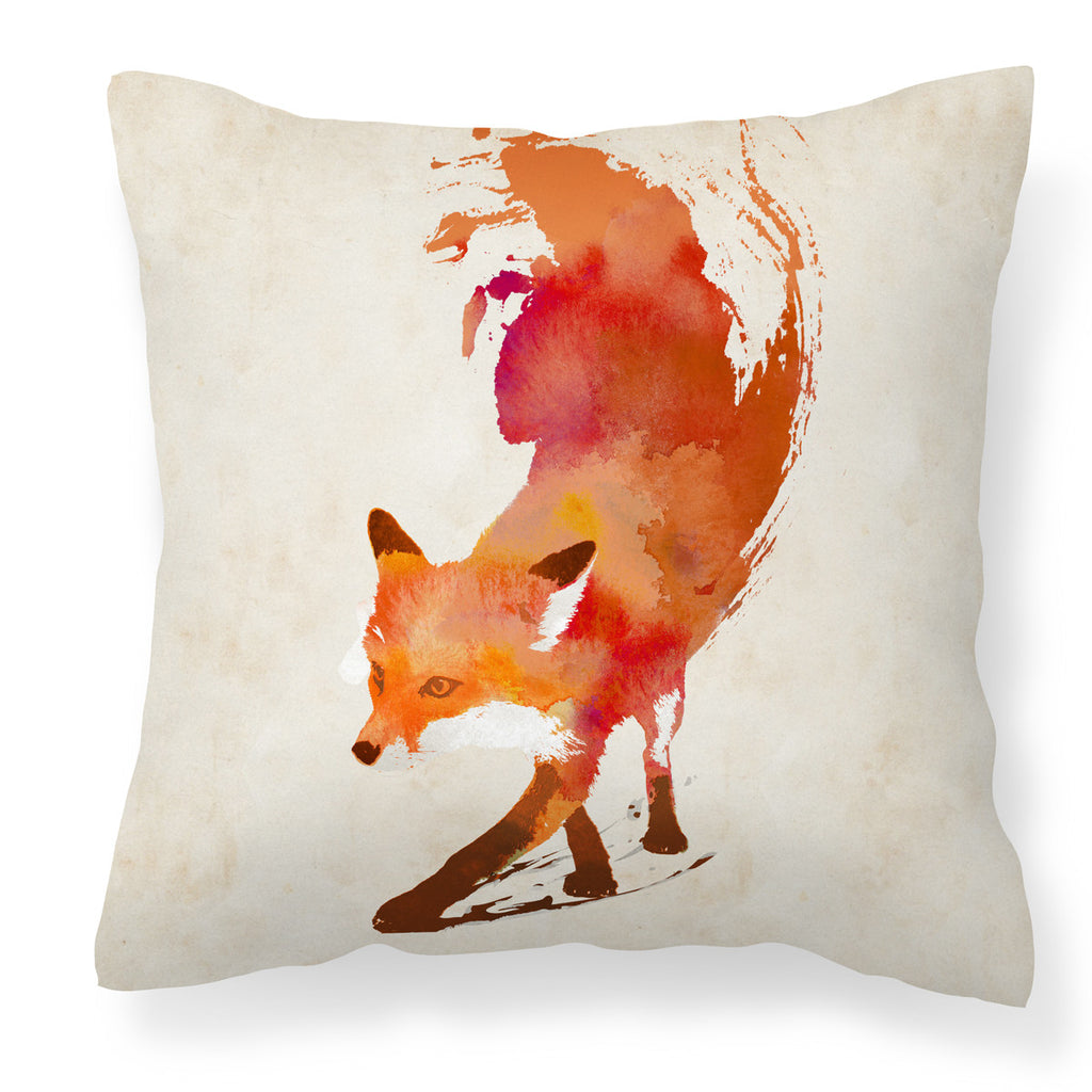 Vulpes Cushion - Red Abstract Fox Throw Pillow