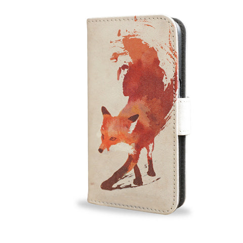 Vulpes - Red abstract fox leather Samsung Galaxy S7 case, createandcase