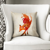 Stylish & Modern Cushion - Vulpes Red Abstract Fox Throw Pillow