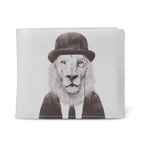 Men's Slim Vegan Leather Wallet - Sir Lion