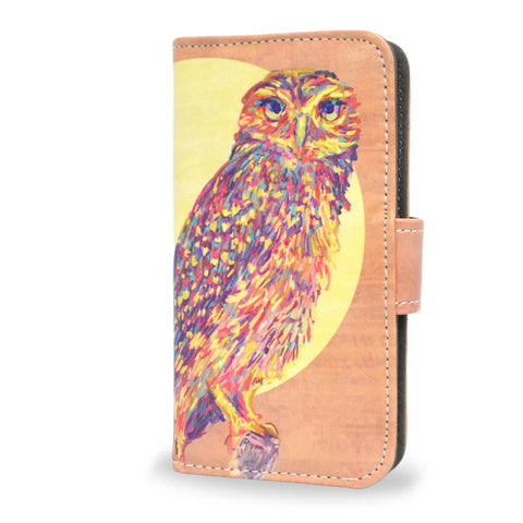 'Watercolour Owl' Artist Designed Sony Xperia Z3 Compact Wallet Case, , Create&Case - createandcase