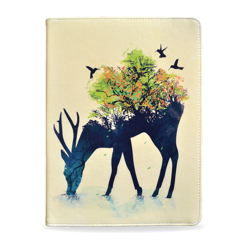 Artistic Stag, deer Watering - Samsung Galaxy Tab S2 9.7 inch vegan leather folio case