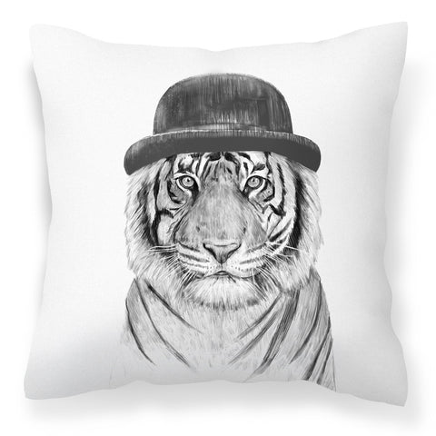 Tiger with top hat sofa cushion - Welcome to the jungle