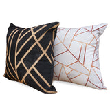 Art Deco Black - Stylish Matching Black & Gold Luxury Cotton Cushion