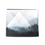 Woods Abstract - Mens black white and grey vegan wallet