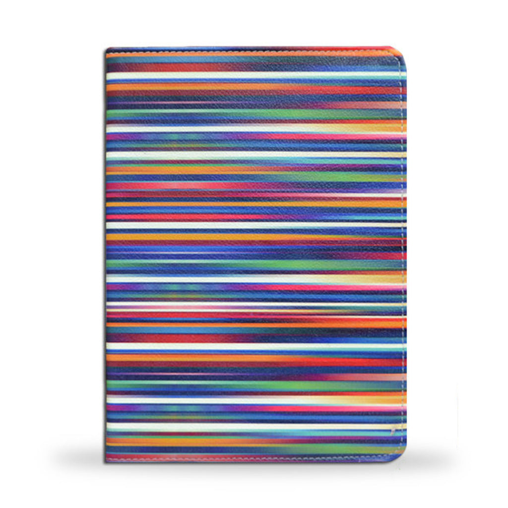 Colourful iPad Air 2 vegan leather folio case cover, blurry lines, createandcase