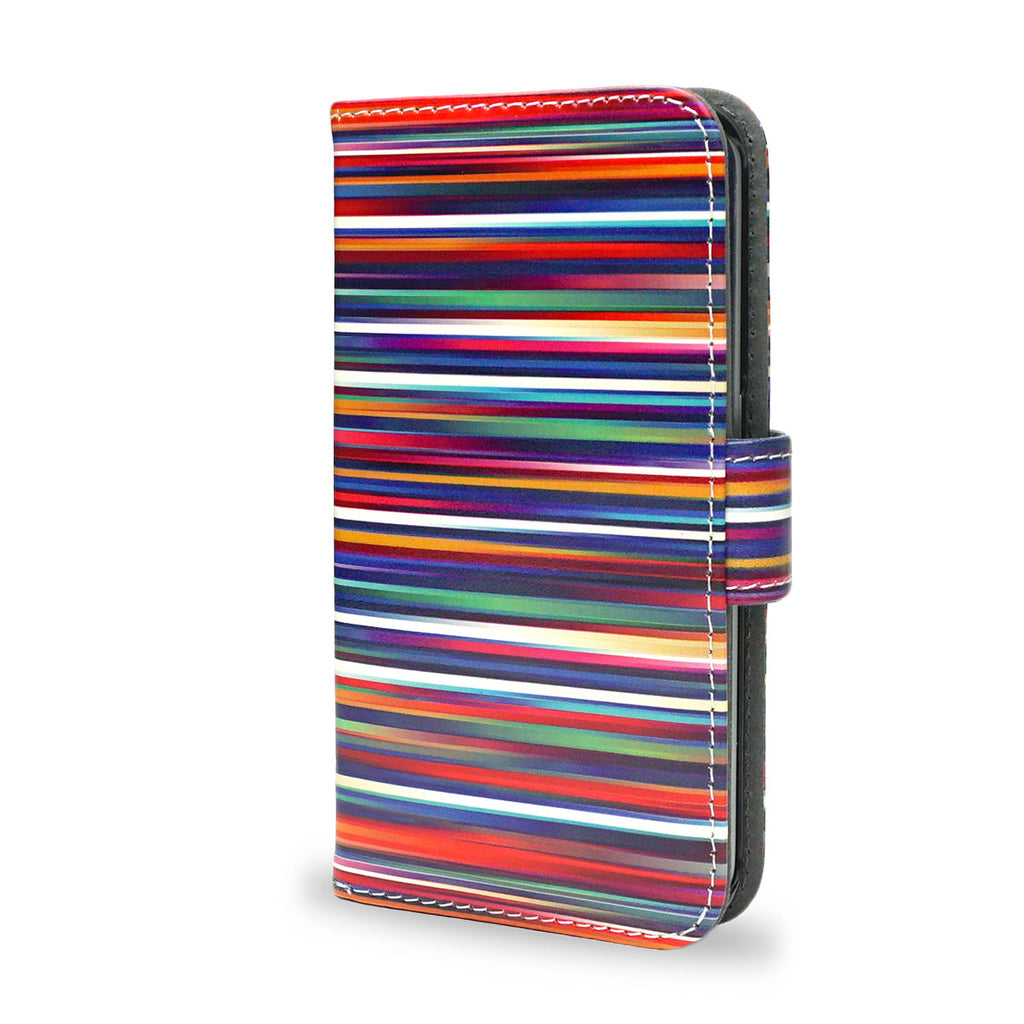 Blurry Lines - Samsung Galaxy S6 wallet style case, vegan leather s6 cover