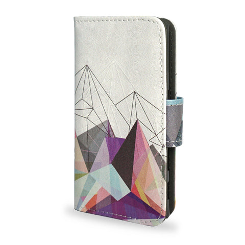 Sony Xperia X Compact Leather Wallet Case - geometric - Vegan Leather