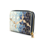 Gradient Cubes - Stylish Womens Vegan Mini Purse Wallet