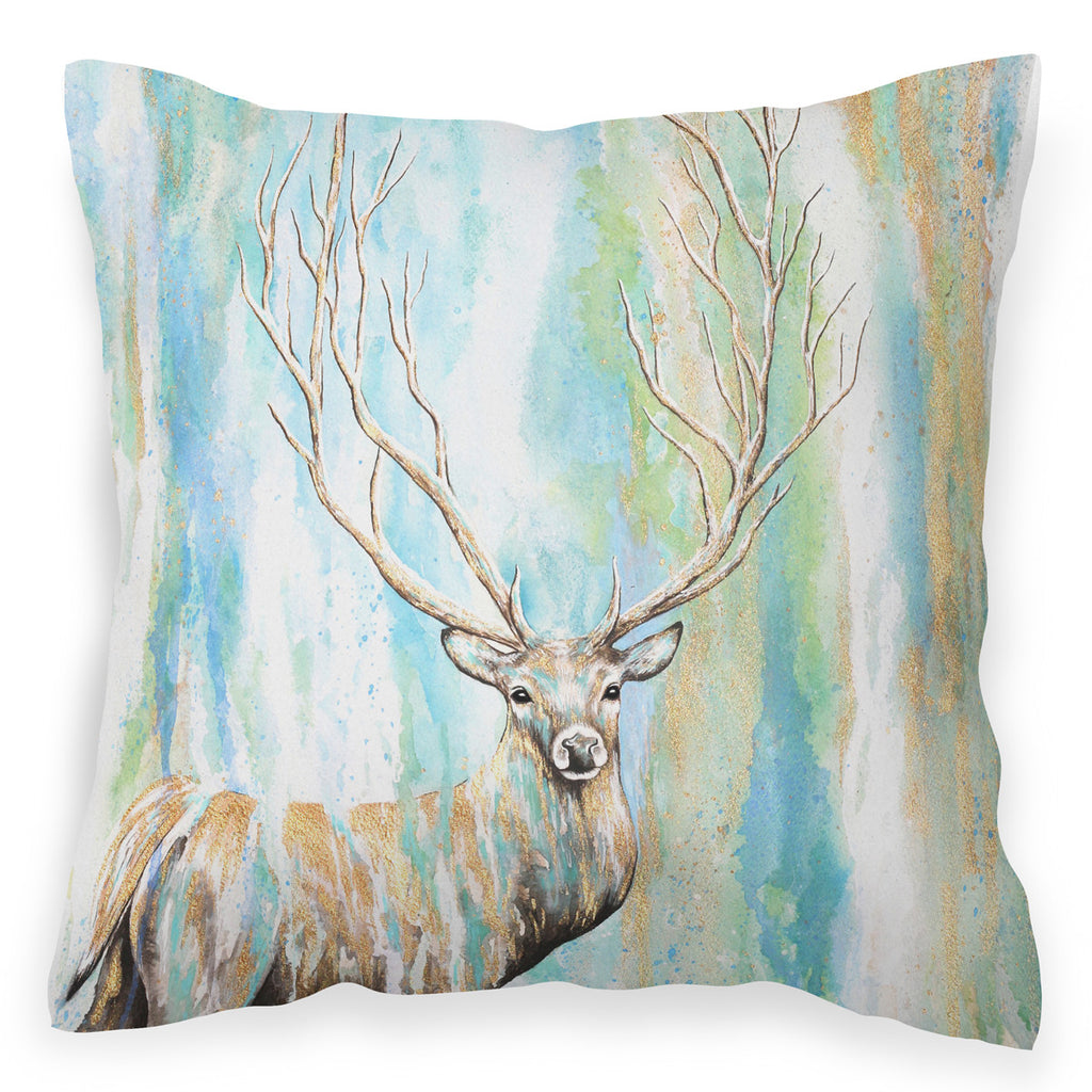 Deer Tree - Watercolour Woodland Cushion with Deer / Stag