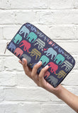 Elephants & Flamingos - Womens Stylish Colourful Animal Print Purse Wallet