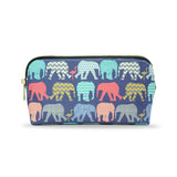 Elephants & Flamingos - Colourful Vegan Designer Cosmetic Bag for Women