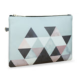 Graphic 202 - Grey & Black Wristlet Vegan Clutch Bag