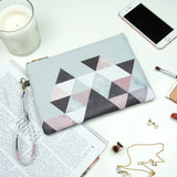 Graphic 202 - Grey & Black Tessellation Wristlet Clutch Bag