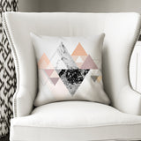 Grey & White Marble Geometry 45cm (18') Stylish & Modern Cushion
