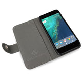 Google Pixel Leather Wallet Case, credit card compartments, purse, createandcase, blurry lines