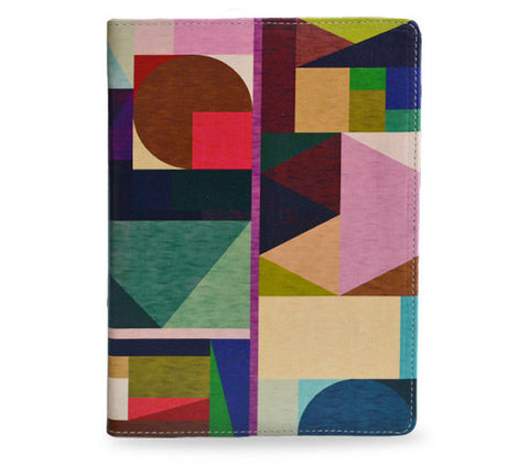 Kaku - Colourful geometric vegan leather iPad Mini 2 leather case / cover, unique gifts