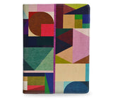 Kaku - Colourful geometric vegan leather iPad Mini 4 case / cover, unique gifts