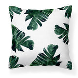 Banana Leaf - Tropical Green Leafy Cushion