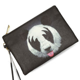 KISS of a Panda - Black & White Vegan Clutch Bag by HETTY+SAM