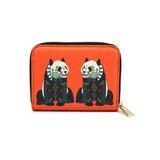 Panda - Womens Stylish Red Leather Purse Wallet with Cute Panda Artwork